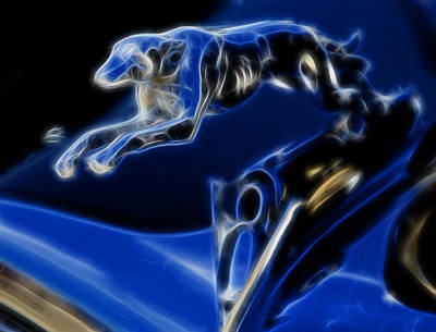 Digital Art - Greyhound V8 by Ricky Barnard
