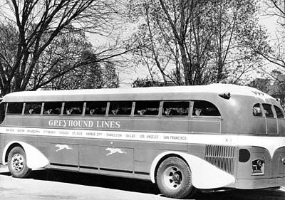 Bus Photograph - Greyhound X-1 Super Coach Bus by Underwood Archives