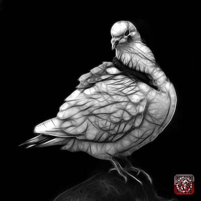 Digital Art - Greyscale Pigeon Pop Art 5516 - Fs - Bb -  Modern Animal Artist  by James Ahn