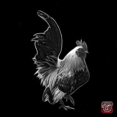 Photograph - Greyscale Rooster Pop Art - 4602 - Bb - James Ahn by James Ahn