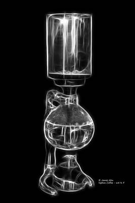 Digital Art - Greyscale Siphon Coffee 6781 F by James Ahn