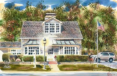 Cape Cod Painting - Greystone Inn II by Kip DeVore