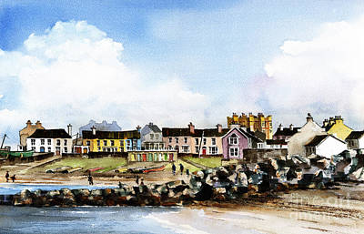 Greystones North Beach  Wicklow Art Print