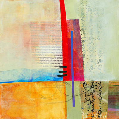 Abstract Collage Painting - Grid 3 by Jane Davies