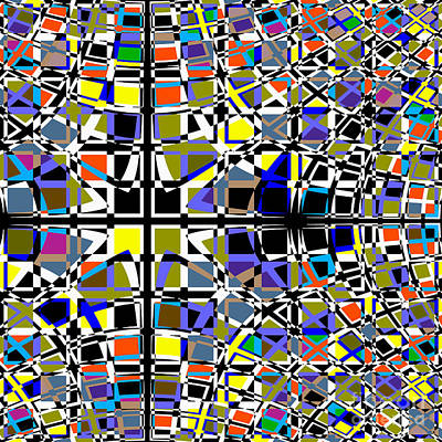 Digital Art - Grid by Barbara Moignard