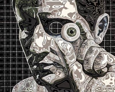 Borg Painting - Grid Eye Man Metal by Joe Ciccarone