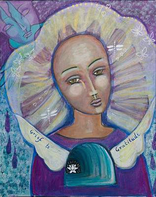 Shiloh Sophia Art Painting - Grief To Gratitude by Havi Mandell