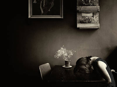 Sepia Wall Art - Photograph - Grief by Ton Dirven