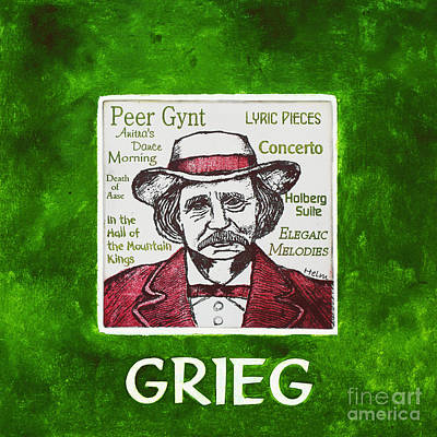 Norway Mixed Media - Grieg by Paul Helm