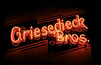 Photograph - Griesedieck Brothers Beer Neon Sign by Jane Eleanor Nicholas