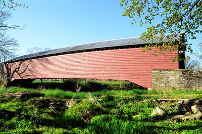 Griesemer's Covered Bridge Berks County Art Print by Bill Cannon