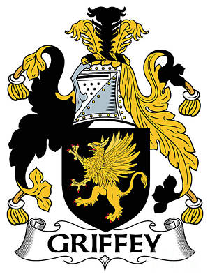Griffey Coat Of Arms Irish Art Print by Heraldry