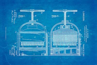 Griffin Photograph - Griffin Confetti Maker Patent Art 1912 Blueprint by Ian Monk