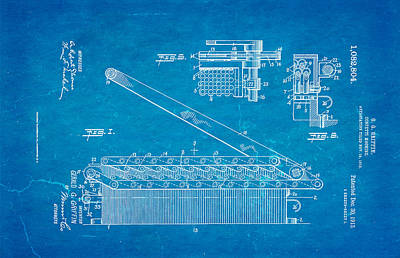 Griffin Photograph - Griffin Confetti Maker Patent Art 1913 Blueprint by Ian Monk