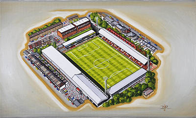 Sports Paintings - Griffin Park - Brentford FC by D J Rogers