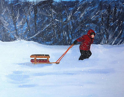 Painting - Griffin's Sled by Jane Croteau