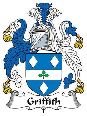 Griffith Coat Of Arms Irish Art Print