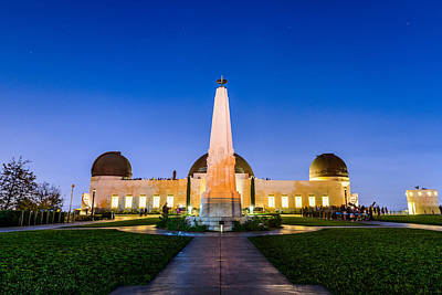 Photograph - Griffith Observatory By Night 2 by Jason Chu