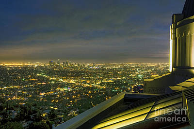 Photograph - Griffith Observatory In Los Angeles Ca Cityscape At Night Dusk by David Zanzinger