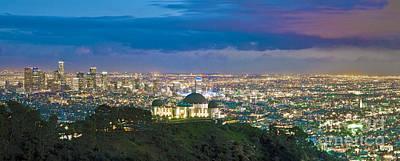 Los Angeles Skyline Photograph - Griffith Observatory L.a. Skyline Los Angeles Ca Dusk by David Zanzinger