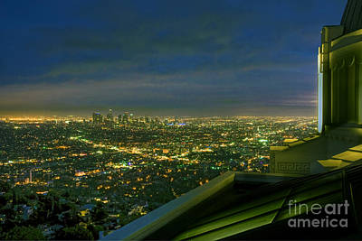 Photograph - Griffith Observatory  Los Angeles Ca by David Zanzinger