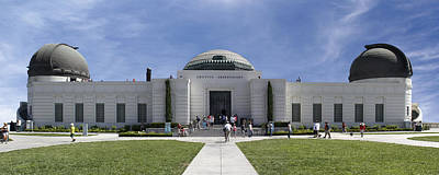 Observatory Digital Art - Griffith Observatory - Panoramic by Mike McGlothlen