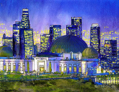 Griffith Park With La Nocturne Original by Randy Sprout