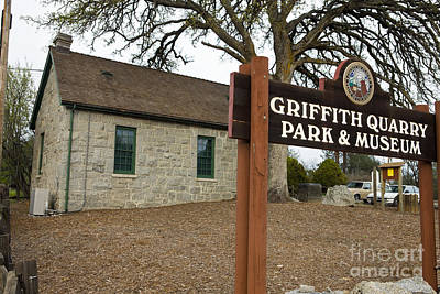 Watercolor Typographic Countries - Griffith Quarry Park and Museum Penryn California by Jason O Watson