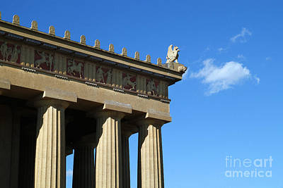 Griffon On The Parthenon  Art Print by Jeff Holbrook