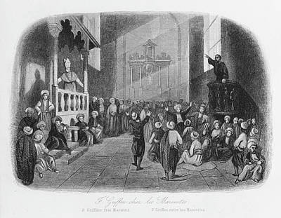 Griffon Drawing - Griffon, Preaching To The Maronites by Mary Evans Picture Library