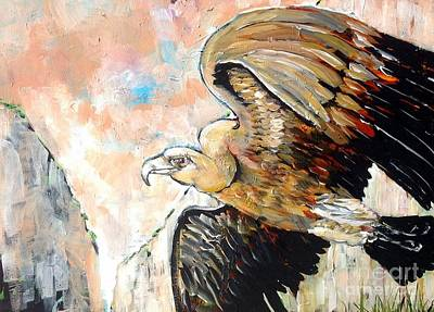 Griffon Vulture Gyps Fulvus Original by Chris Irwin Walker