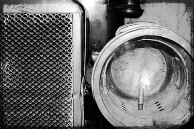 Altered Image Photograph - Grill And Headlight by Colleen Kammerer