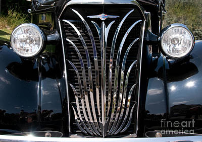 Grill And Headlights Art Print by Vivian Christopher