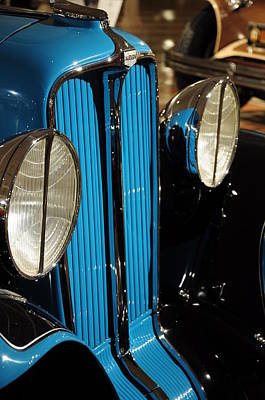 Photograph - Grill And Lights 1932 Auburn 8-100a Speedster by Gene Sherrill