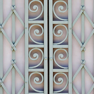 Grill Gate Photograph - Grill Details by Art Block Collections