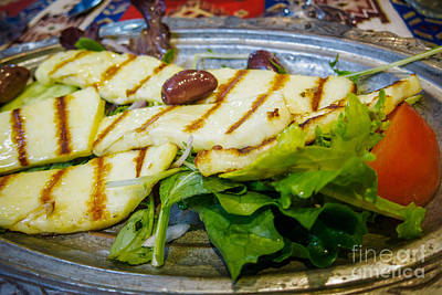 Photograph - Grilled Halloumi Salad by Silken Photography