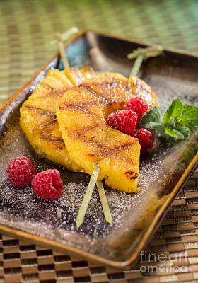 Grilled Pineapple Dessert Art Print by Iris Richardson