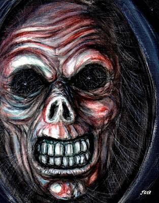 Universal Monsters Painting - Grim Reaper by Jack Joya