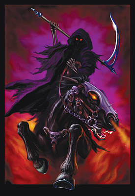 Grim Rider Art Print by Garry Walton