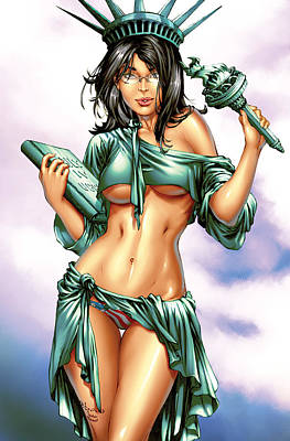 Statue Of Liberty Mixed Media - Grimm Fairy Tales 2012 Giant Sized Edition Nycc Exclusive by Zenescope Entertainment