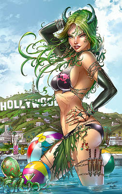 Goblin Mixed Media - Grimm Fairy Tales Bad Girls 02d by Zenescope Entertainment