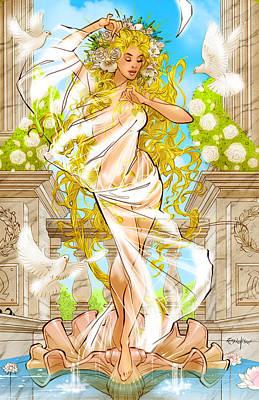 Grimm Fairy Tales Godstorm 02d Art Print by Zenescope Entertainment