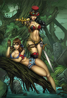 Drawing - Grimm Fairy Tales Presents Black Diamond Exclusives by Zenescope Entertainment