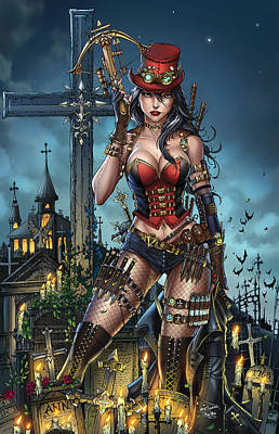 Steam Punk Drawing - Grimm Fairy Tales Unleashed 01b Van Helsing by Zenescope Entertainment
