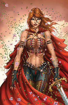 Grimm Fairy Tales Unleashed 04c Belinda Art Print by Zenescope Entertainment