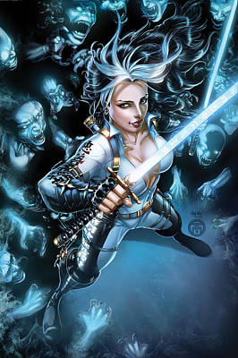 Drawing - Grimm Fairy Tales Unleashed Demons 01b by Zenescope Entertainment