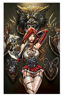 Wolf Drawing - Grimm Myths And Legends 01e - Red Riding Hood by Zenescope Entertainment