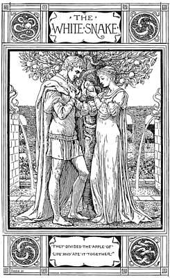 Grimm The White Snake Art Print
