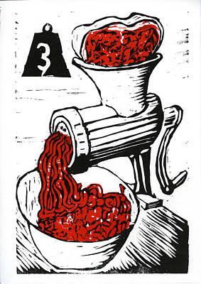 Cookbook Digital Art - Grind The Beef by David Esslemont