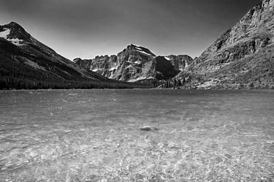 Photograph - Grinnel Lake Glacier National Park  Bw by Rich Franco